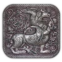 ХУДОЖЕСТВЕННАЯ ЧЕКАНКА - панно «Рогатый зверь»