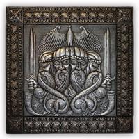 ХУДОЖЕСТВЕННАЯ ЧЕКАНКА - панно «Свентовид»