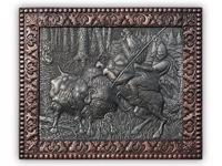 ХУДОЖЕСТВЕННАЯ ЧЕКАНКА - панно «Охота на тура»