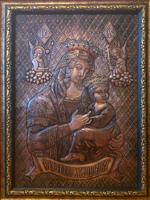 ХУДОЖЕСТВЕННАЯ ЧЕКАНКА - икона «Божья Мать Скоропослушница»