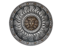 ХУДОЖЕСТВЕННАЯ ЧЕКАНКА - щит «Деметра» (богиня плодородия)